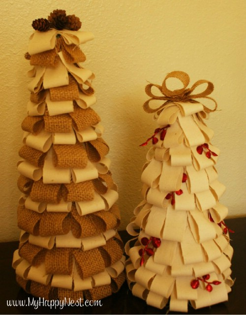 Burlap Christmas Trees