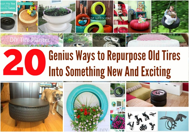 20 Genius Ways To Repurpose Old Tires Into Something New And Exciting   DIY  U0026 Crafts