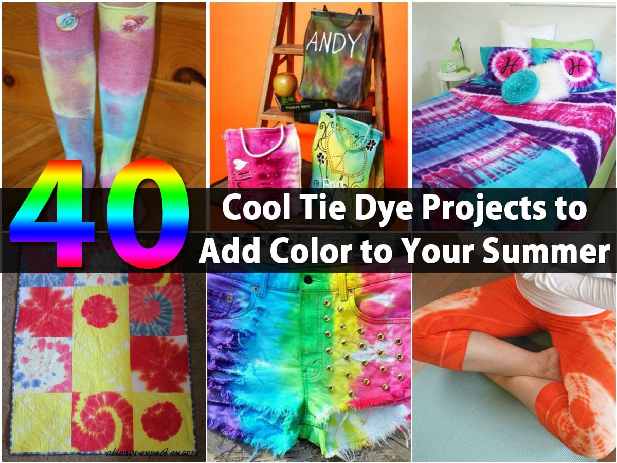 db97c4630a1e 40 Cool Tie Dye Projects to Add Color to Your Summer - DIY   Crafts