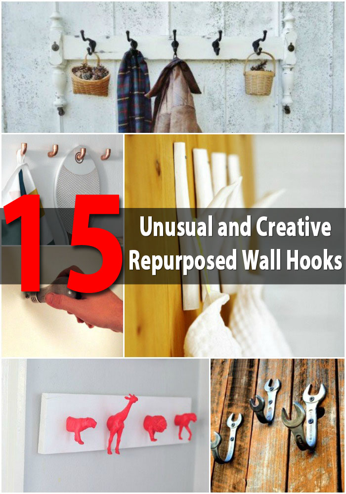 15 Unusual and Creative Repurposed Wall Hooks