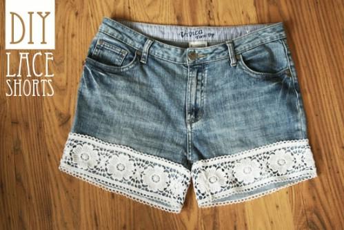 Lace Hemmed Shorts