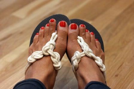Clothesline Flip-Flops