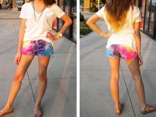 Rainbow Tie Dyed Shorts
