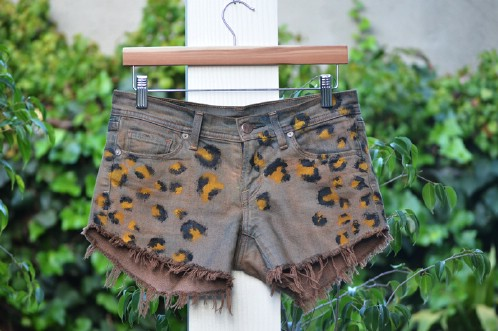 DIY Spotted Shorts