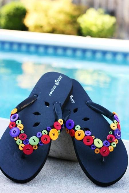 Buttoned Down Flip-Flops