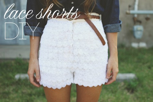 Lace Covered Shorts