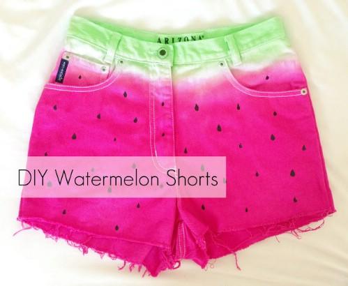 DIY Watermelon Shorts