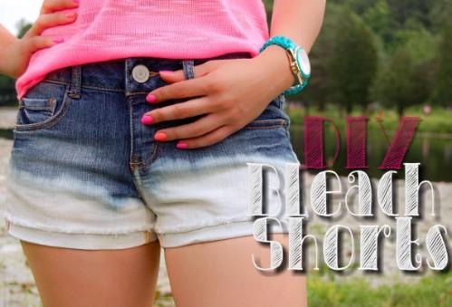 DIY Dipped Bleach Shorts