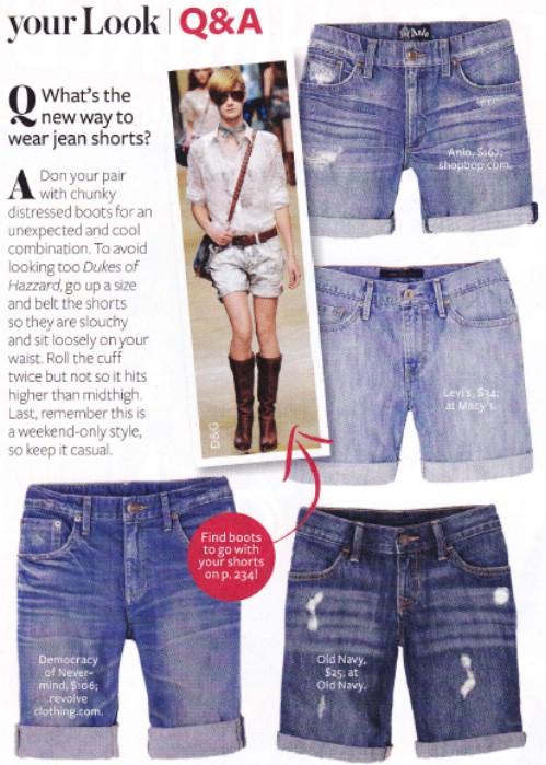 Cuffed Denim Cut-Off Shorts