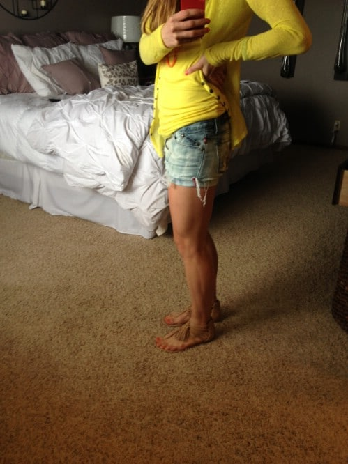 New Jeans Into Worn Cut-Offs