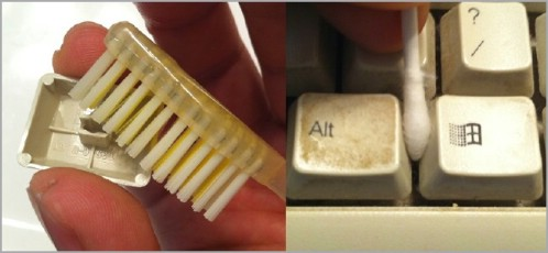 Clean Keyboards With Old Toothbrushes