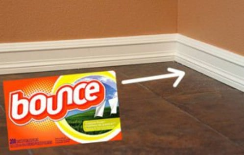 Keep Baseboards Clean With Dryer Sheets