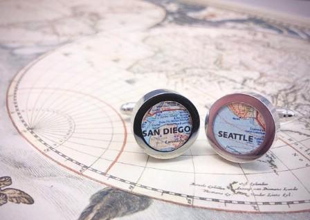 DIY Map Cufflinks