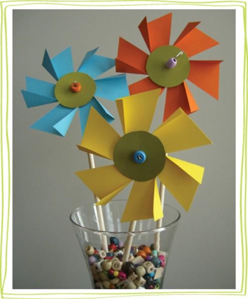 Flower Pinwheels