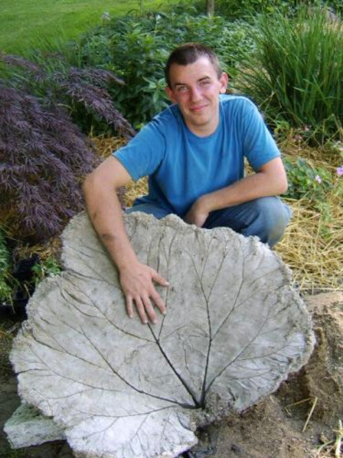 Build a Beautiful Leaf Shaped Bird Bath