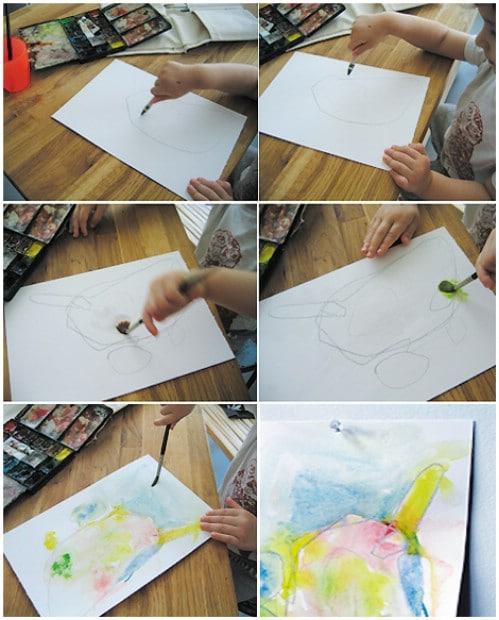 Watercolor Resist Paintings
