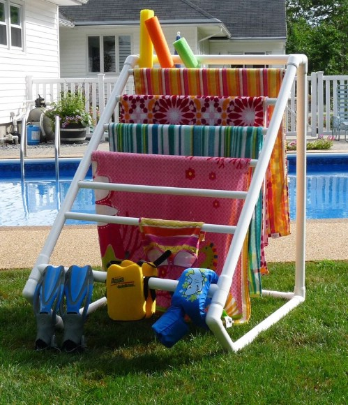 Build a Multi-Towel Rack for the Pool