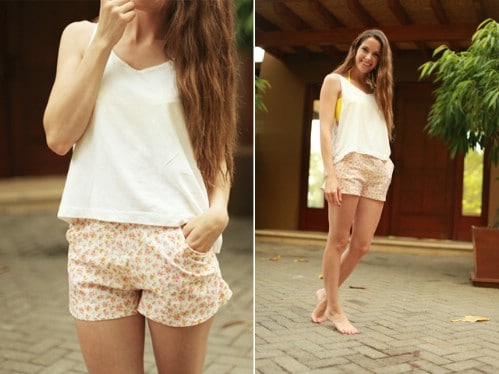 Floral Everyday Shorts with Pockets