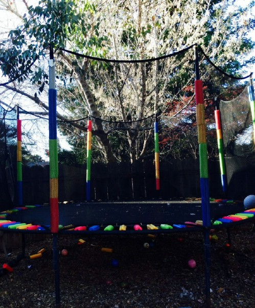 Make A Rainbow Trampoline