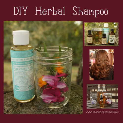 Homemade Herbal Shampoo