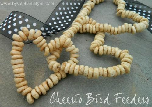 Hanging Cheerios Bird Feeders