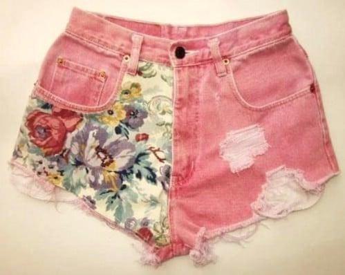 Fabric Paneled Shorts