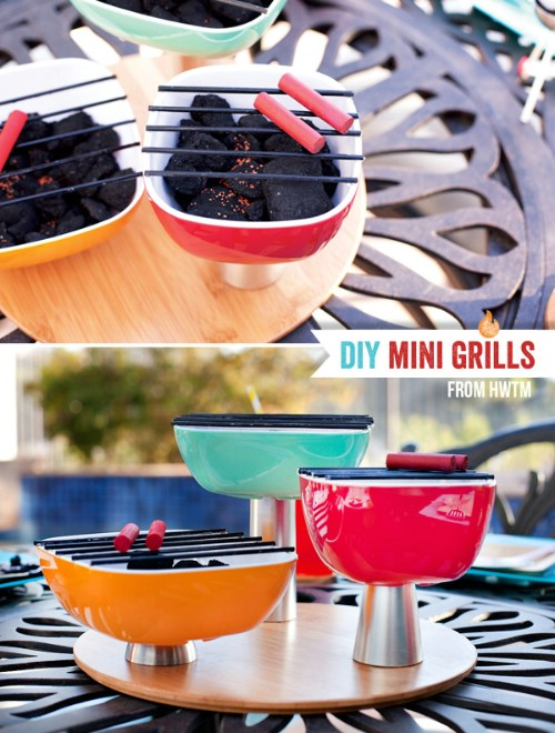 Make Mini Grills for the Back Deck