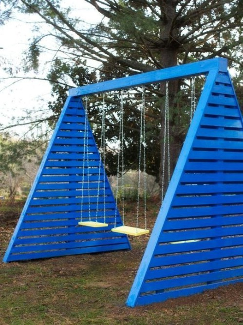 Build a Modern Swing Set
