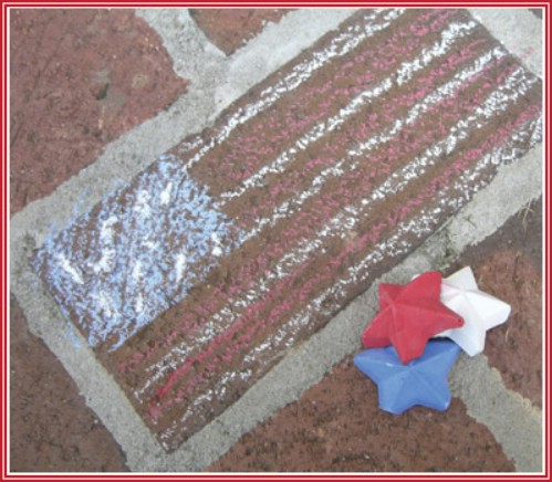Sidewalk Chalk Stars