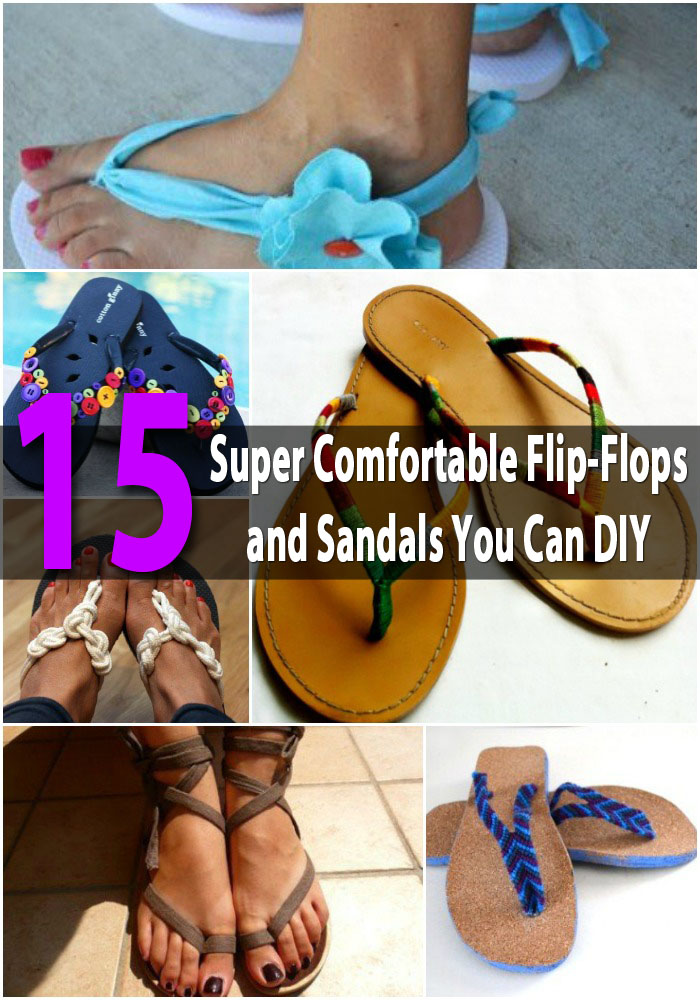 15 Super Comfortable Flip-Flops and Sandals You Can DIY