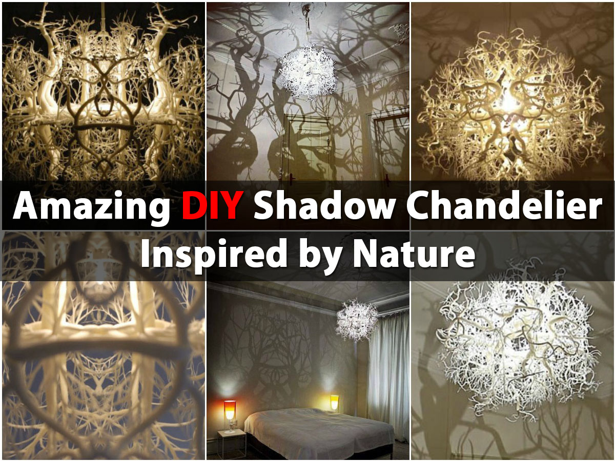 Amazing Diy Shadow Chandelier Inspired By Nature Diy