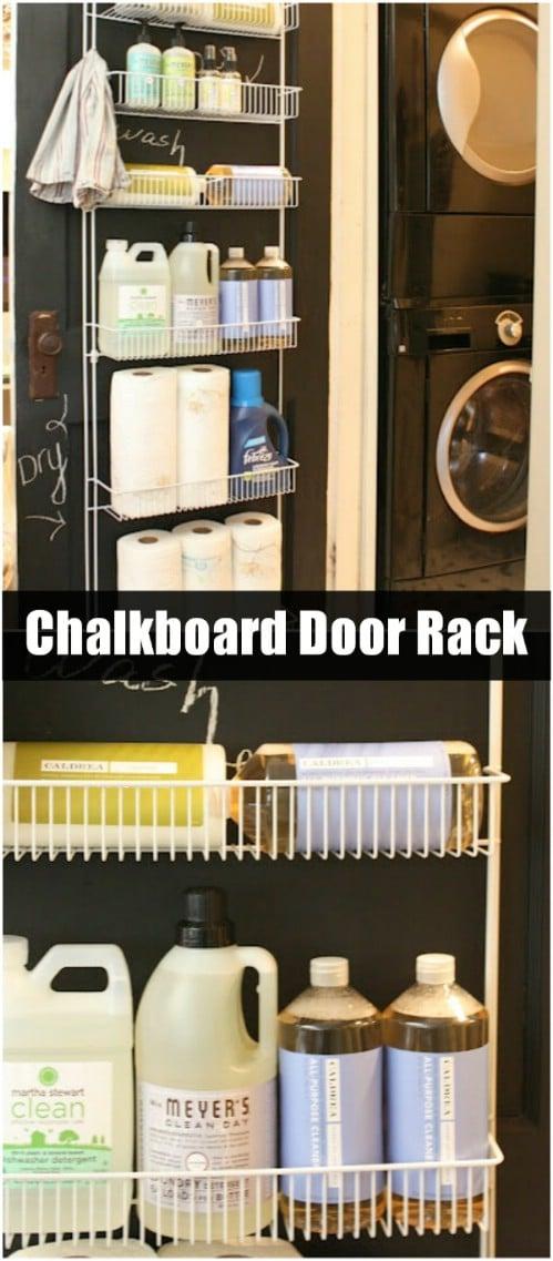 Chalkboard Door Rack