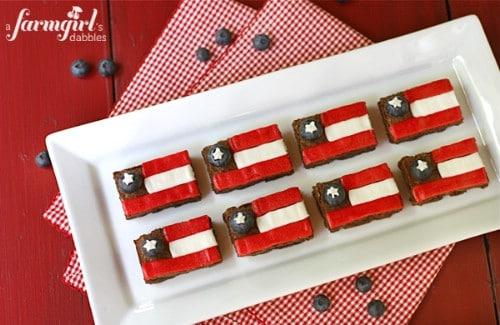 Fudgy Patriotic Brownies