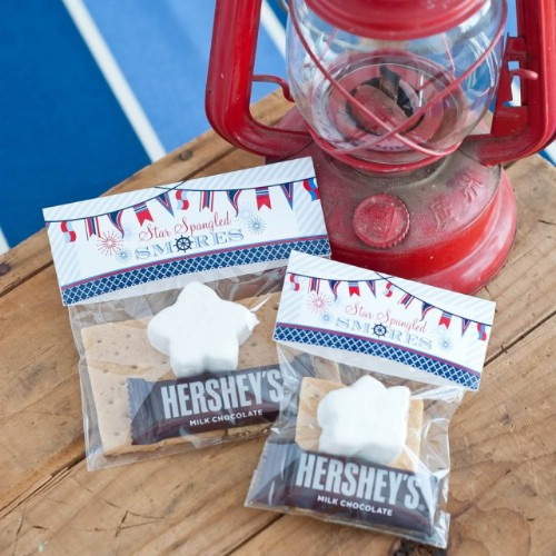 Nautical 4th of July S'mores Bags