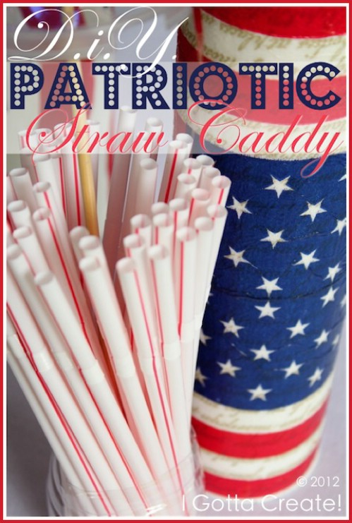 Star Spangled Straw Caddy