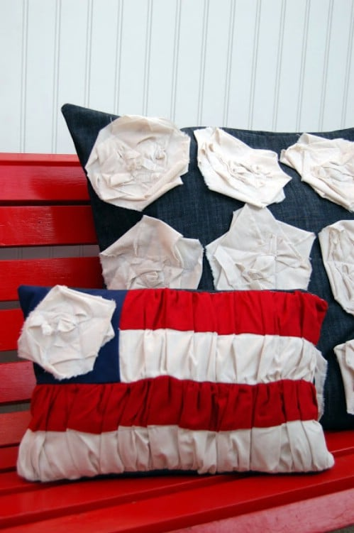 Ruched Flag Pillow