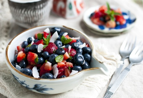 Berry and Coconut Fruit Salad
