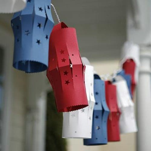 Festive 4th of July Lanterns