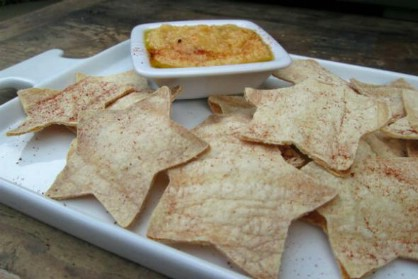 Star Shaped Homemade Tortilla Chips