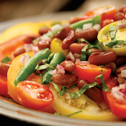 Bean Tomato Salad with Honey Vinaigrette