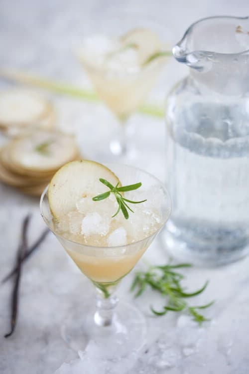Pear, Rosemary and Lemongrass Cocktail