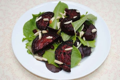 Grilled Beet Salad with Almonds and Cranberries