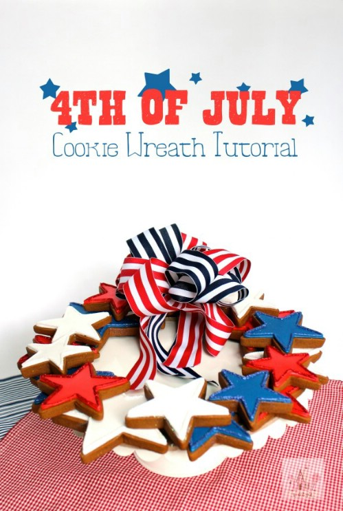 Patriotic Cookie Wreath