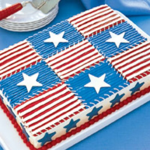 Easy Independence Day Quilt Cake
