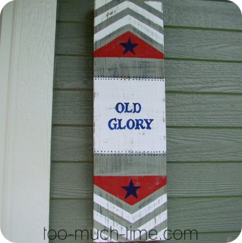Rustic Old Glory Sign