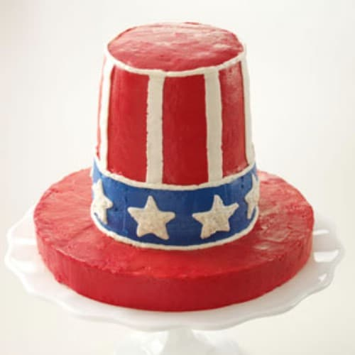 Uncle Sam's Krispie Treat Cake