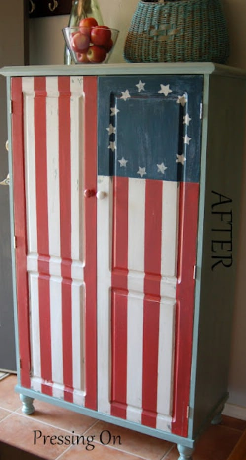 Betsy Ross Painted Cabinet