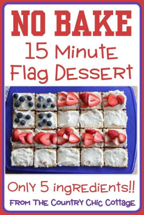 No Bake Flag Dessert