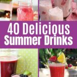 Summer drinks collage