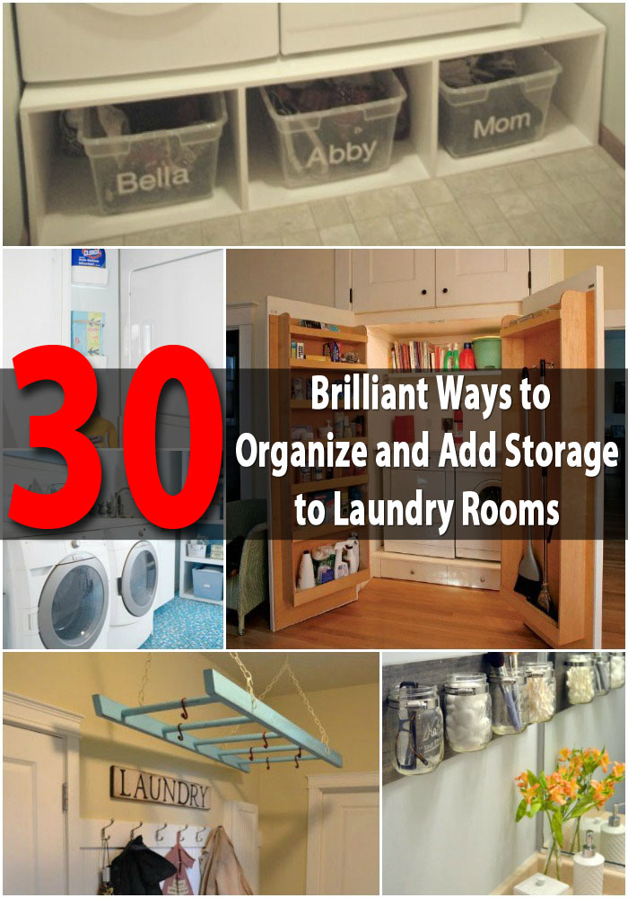 30 Brilliant Ways to Organize and Add Storage to Laundry Rooms
